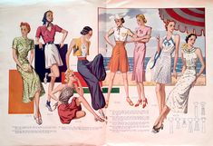 Beach wear from Record Fashions magazine, July 1938