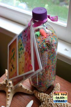 Pink and Green Mama: Rainbow Rice Eye Spy Bottle