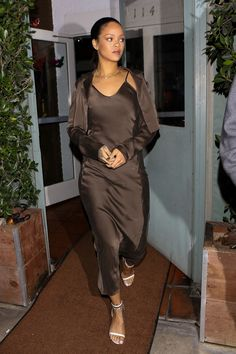 7a526a8a9d04 Rihanna Makes the Case for Matchy-Matchy Holiday Party Style
