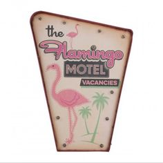XL Flamingo Retro Light Box