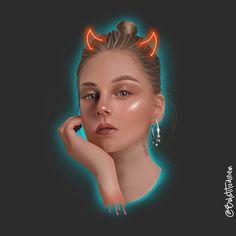 Hell girl Elite 3, Hell Girl, Illustration Artists, Fan Art, Portrait, Disney Characters, Instagram, Illustrations, Headshot Photography