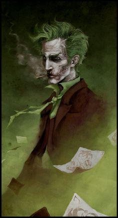 The Joker by coupleofkooks--Those eyes! fabulously done