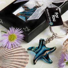 These beach wedding favors will bring the style of Italy and the allure of the sea to your beach themed event with our Murano Glass Collection starfish keychain favors Summer Wedding Favors, Destination Wedding Favors, Wedding Favours, Wedding Ideas, Wedding Stuff, Dream Wedding, Keychain Design, Glass Collection, Wedding Supplies