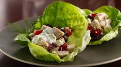 No forks needed! This handheld Greek salad is great for a picnic or casual get-together. Make the sauce and chicken mixture ahead of time, then assemble just before serving.