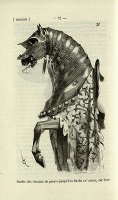 Horse armour late 1400s by peacay, via Flickr