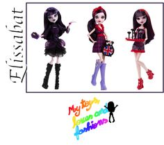 """Elissabat Monster High Dolls (from left): Hauntlywood, Ghoulebrities in Londoom and Ghoul Fair. Not shown are her Frightfully Tall Ghouls 17"""" and Ghouls' Getaway dolls."""