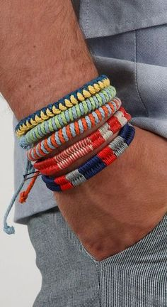Assorted accessory interpretation #2: Layered tribal inspired bracelets - Eco Active Men's Accessories