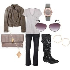 Fall Biker Casual