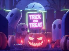 HALLOWEEN designed by Rahul Menon for Zeta. Connect with them on Dribbble; Halloween Poster, Halloween Banner, Halloween Design, Halloween Party Decor, Teenage Warhead, Hello Kitty Cartoon, Fanta, 3d Model Character, Night Aesthetic