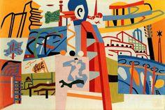 "kitschgirl65: ""Stuart Davis, Impression of New York World's Fair, 1939 """