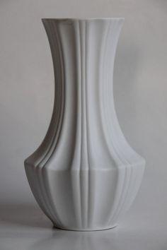 Vintage Bisque Op Art Vase - Bavaria 60s