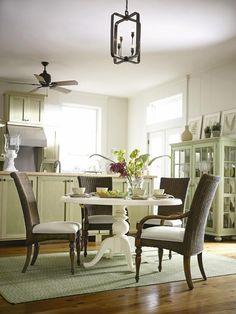 Coastal Living™ by Stanley Furniture Coastal Living™ Round Pedestal Table Furniture Dining Table, Large Furniture, Home Furniture, Dining Chairs, Painted Furniture, Beach Furniture, Wicker Chairs, Dining Decor, Rattan