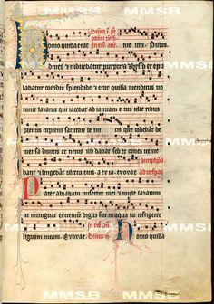 Antiphonarium Cisterciense. - Antiphon Queen Elizabeth Richensa. Date 1317 Sig: R 600 Folio 181r