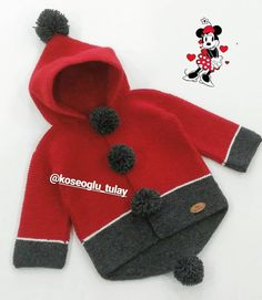 Fotoğraf açıklaması yok. All Free Crochet, Crochet For Kids, Crochet Baby, Chunky Knit Jumper, Sweater Hat, Knitting For Kids, Baby Knitting, Baby Winter, Winter Hats