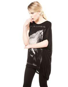 Bershka Netherlands - Asymmetrisch shirt, Bershka