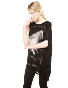 Bershka Turkey - Bershka asymmetric T-shirt