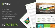 Xylem - PSD by adamriley   A beautifully bold & super clean psd theme ready to be customised for your needs! There are a total of 15 PSDs included, all o