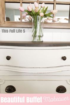 See the amazing before and after on this beautiful buffet! #buffet #beforeandafter #diyfurniture