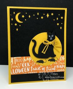 Spooky Cat, Card Front Builder Thinlits, BJ Peters, Stampin' up!
