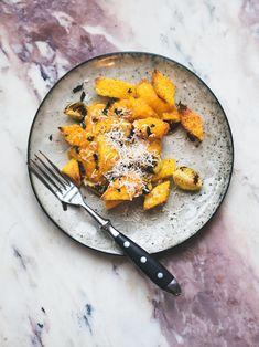 Polenta gnocchi with butternut sage sauce // Gluten free