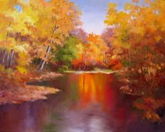 A colorful fall scene with lots of mauve in it. Description from nelseverydaypainting.blogspot.in. I searched for this on bing.com/images