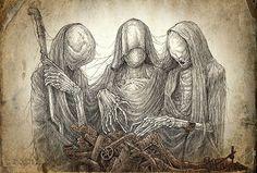 """Drawings by Kirill Semenov, Skirill on DeviantArt """"Kirill Semenov, Russia. Kirill aka Skirill specializes in various original creepy drawings. Creepy Drawings, Creepy Art, Art Drawings, Scary, Arte Horror, Horror Art, Illustrations, Illustration Art, Dark Fantasy"""