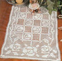 crochet em revista: toalha crochet