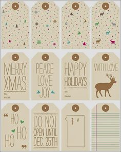 The Best Free Gift Tag Printables