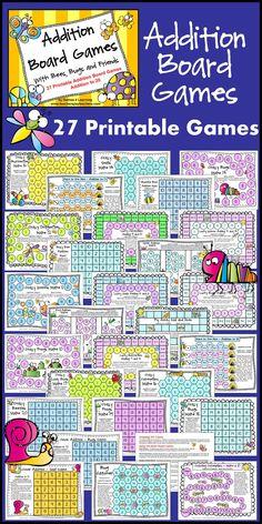27 Addition Board Games - Make addition fun for kids!