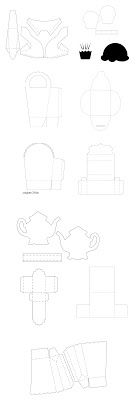 FREE SVG BOX COLLECTION 4 (comes as single download)     boxes, bags, tombstone treat box, teapot box, muffin cupcake, waistcoat, favours, etc