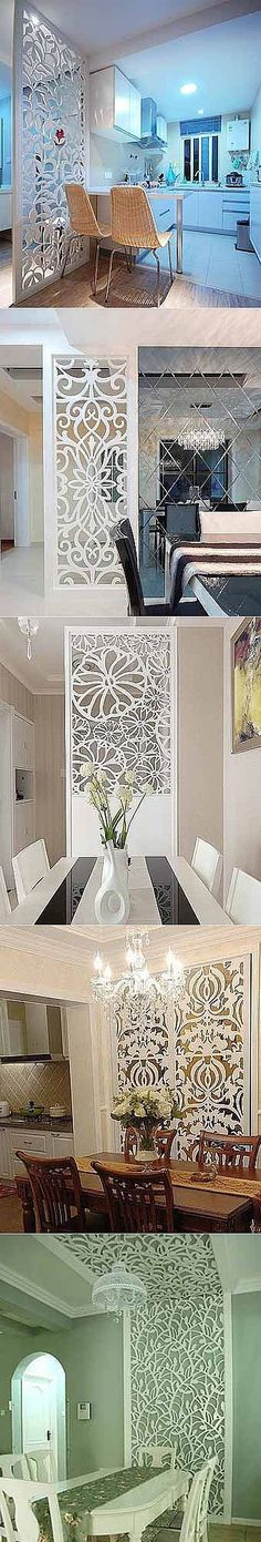 Wall panels for kitchen - Learn to do it yourself Separation Studio, Partition Design, Partition Walls, Decorative Panels, Screen Design, Deco Design, Interior Walls, Modern Interior Design, House Plans