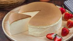 Sernik japoński - lekki i puszysty jak pianka. Po prostu rewelacja! Guava Jam, Mousse, Brunch, No Bake Cheesecake, Chiffon Cake, Food Cakes, Vanilla Cake, Camembert Cheese, Creme