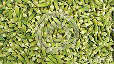 Fresh green okra