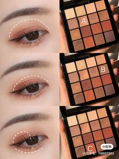 Makeup Korean Style, Korean Natural Makeup, Korean Makeup Tips, Asian Eye Makeup, Eye Makeup Brushes, Eyeshadow Makeup, Makeup Cosmetics, Beautiful Eye Makeup, Pretty Makeup