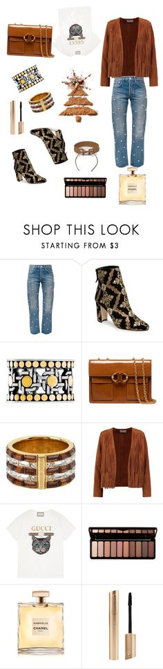 """casual"" by walerie ❤ liked on Polyvore featuring Tu Es Mon Trésor, Manolo Blahnik, John Hardy, Tory Burch, Henri Bendel, Sandro, Gucci, Forever 21, Chanel and River Island"