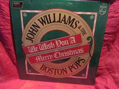 Amazing We Wish You A Merry Christmas John Williams The Boston Pops, Old Vinyl Records, Pop Vinyl, Wish, Merry Christmas, Songs, Amazing, Merry Little Christmas, Happy Merry Christmas