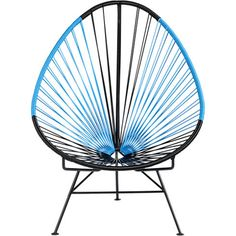 acapulco black/blue lounge chair in view all outdoor | CB2