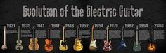 Then check out the way the electric guitar has changed over time. | 9 Amazing Infographics For Guitar Freaks