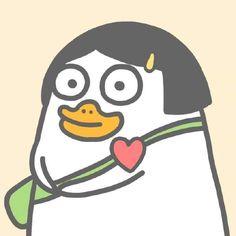 Cute Cartoon Characters, Cartoon Memes, Cartoon Art, Avatar, Funny Duck, Fan Anime, Little Duck, Funny Stickers, Kawaii Art