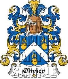 Olivier Family Crest apparel, Olivier Coat of Arms gifts