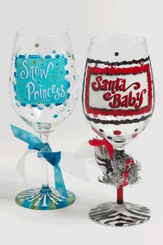 Glass Painting - Santa Baby Party Glass