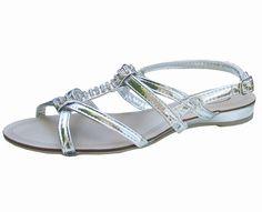 c684a34535ae Dora Silver   Diamante Gladiator Sandals