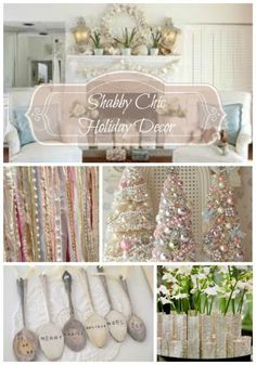 DIY Shabby Chic Holiday Decor on a Budget | eBay #shabbychicbedroomsonabudget