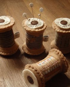 felt thread spool pincushion