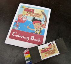 DIY Mini Coloring Books and Crayon Boxes from The Artful Child. Great Party Favors!