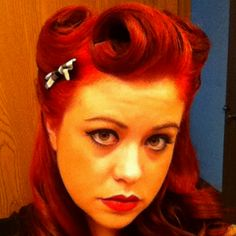 Victory Rolls. I lied the hair but not the girls face lol.