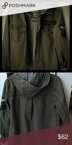 Military Jacket Patchwork American Eagle Outfitters Jackets & Coats Utility Jackets