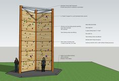 Our monster climbing tower is 8 metres high, with 6 roped wall faces. Indoor Climbing Wall, Rock Climbing, Outdoor Activity Centres, Outdoor Activities, Bloc Escalade, Diy Organisation, Rock Wall, Reinforced Concrete, Backyard For Kids