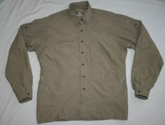 Mountain Hardwear long-sleeve hiking/camping nylon vent Shirt-Mens Small-fishing