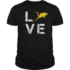 Love Scuba Diving T-Shirts, Hoodies. VIEW DETAIL ==► https://www.sunfrog.com/Hobby/Love-Scuba-Diving-123496101-Black-Guys.html?id=41382